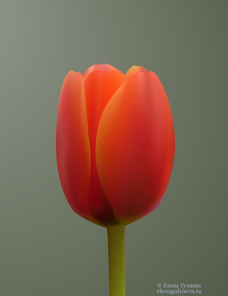 Тюльпан-на-основе-меша-цветок